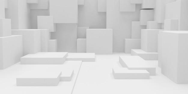 3d geometrische abstracte kubusvormige achtergrond van het behang Gratis Foto