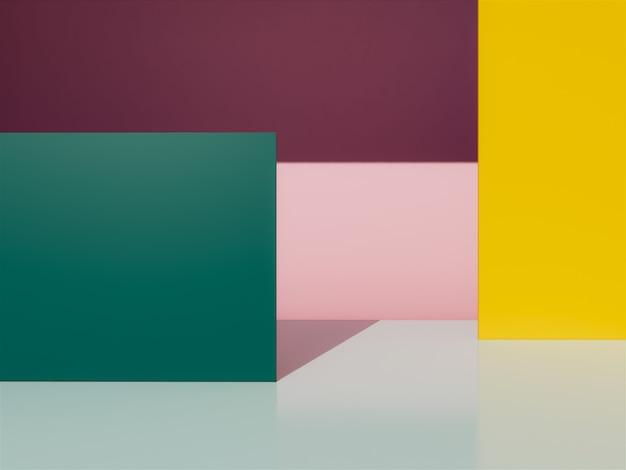 3d-geometrische achtergrond. Premium Foto