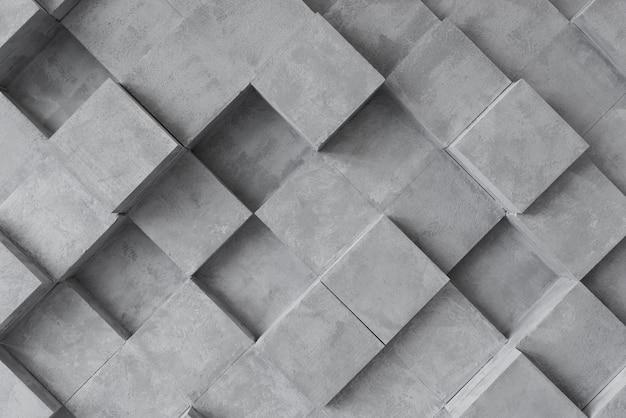 3d grijs oppervlak met vierkanten Gratis Foto