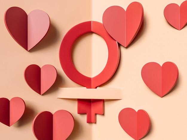 3d illustratie, 8 maart. internationale vrouwendag concept. Gratis Foto