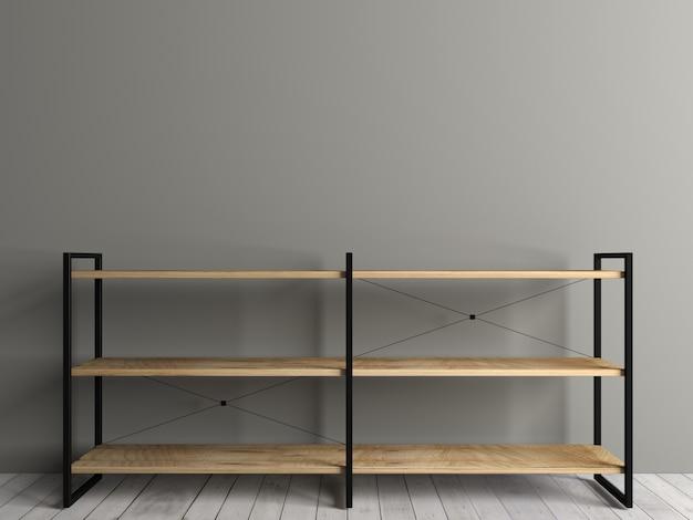 3d illustratie. borstrek op de zolder. het interieur van de kamer. het meubilair en de verlichting. achtergrond voor banner Premium Foto