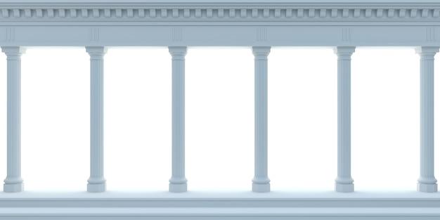 3d illustratie. marmeren antieke muur blauwe arcade. achtergrond banner. Premium Foto