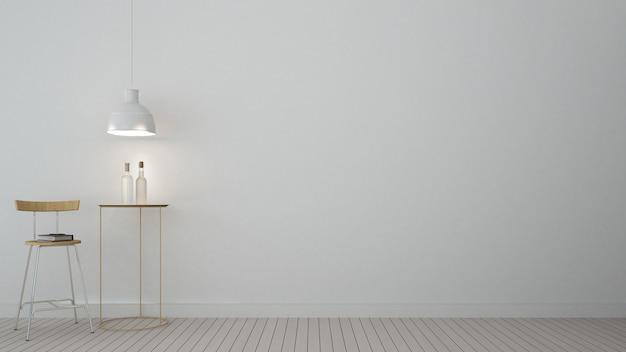 D interieur minimalistische rendering slaapkamer ruimte en