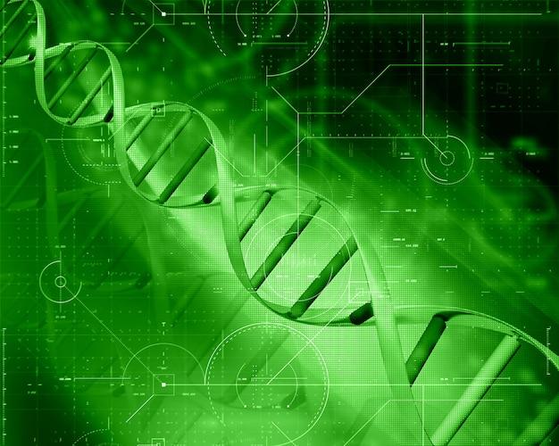 3d medische technologieachtergrond met dna-bundel Gratis Foto