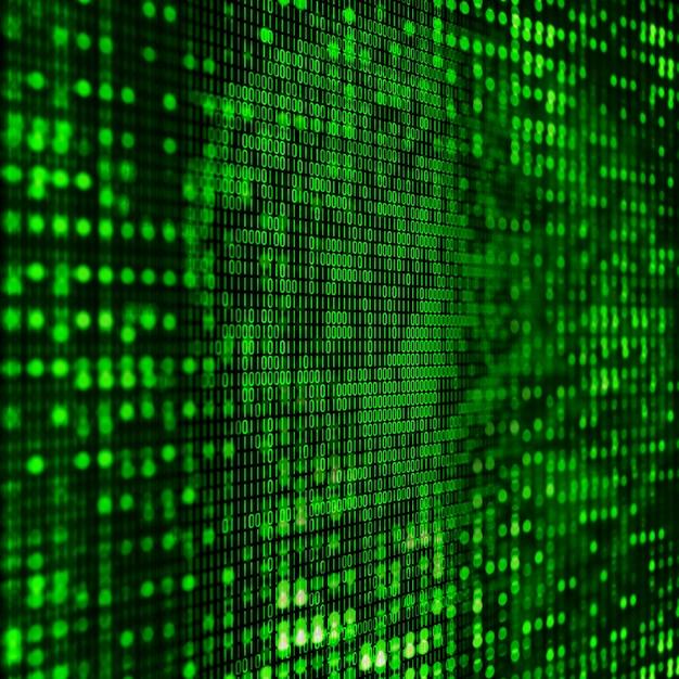 3d programmerings achtergrond met abstracte binaire code Gratis Foto