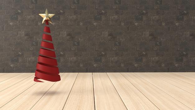 3d render kerst achtergrond voor wenskaart Gratis Foto