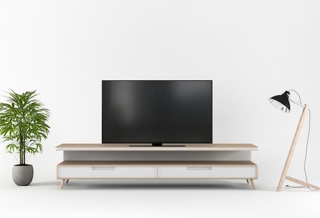 D render met tv kast decoratie in de studio foto premium