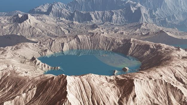 3d render van een planeet van kraters Gratis Foto