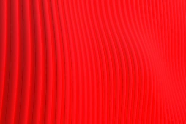 3d-rendering, abstracte muur golf architectuur rode achtergrond, rode achtergrond voor presentatie, portfolio, website Premium Foto