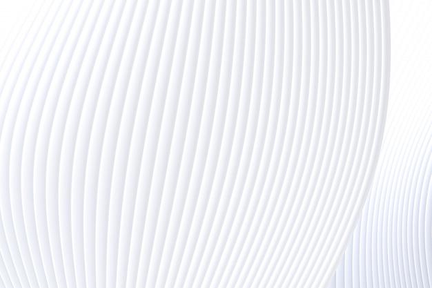 3d-rendering, abstracte muur golf architectuur witte achtergrond, witte achtergrond voor presentatie, portfolio, website Premium Foto