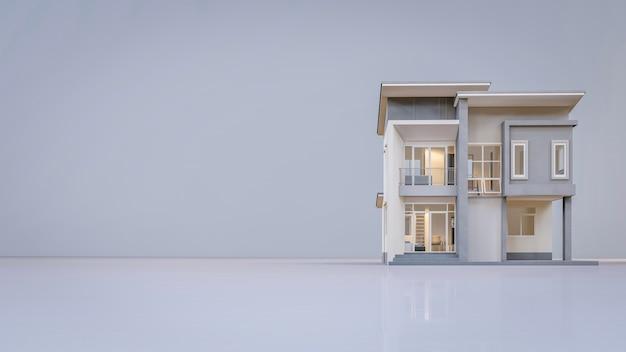 3d-rendering architectonisch huis Premium Foto
