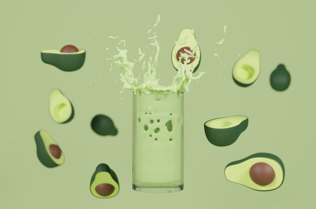 3d-rendering avocado-sap Premium Foto