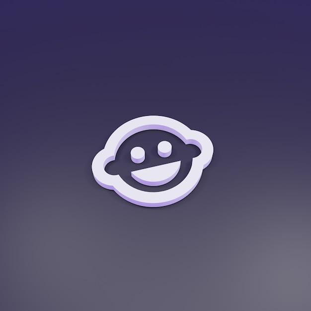 3d-rendering, baby gezicht schets teken 3d Premium Foto