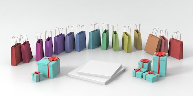 3d-rendering groene pastel podium voor product Premium Foto