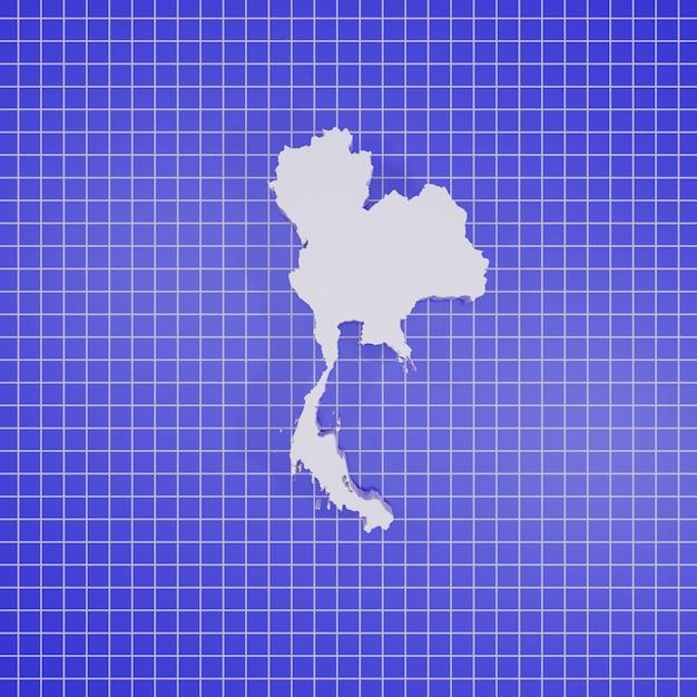 3d-rendering kaart thailand Premium Foto