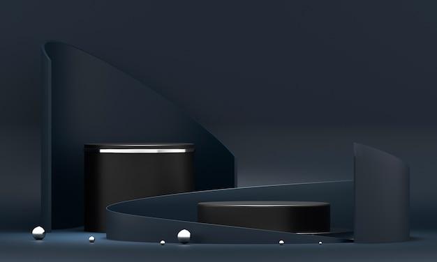3d-rendering ronde podiumgeometrie. Premium Foto