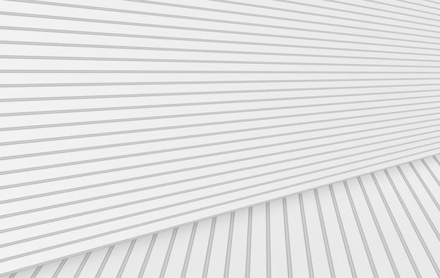 3d-weergave moderne minimale witte panelen muur vloer achtergrond. Premium Foto