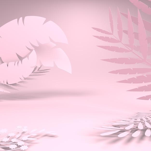 3d-weergave van bladeren Premium Foto