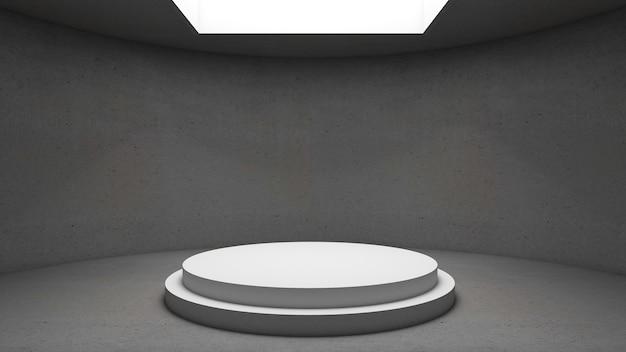 3d-weergave van cirkelpodium voor showproduct Premium Foto