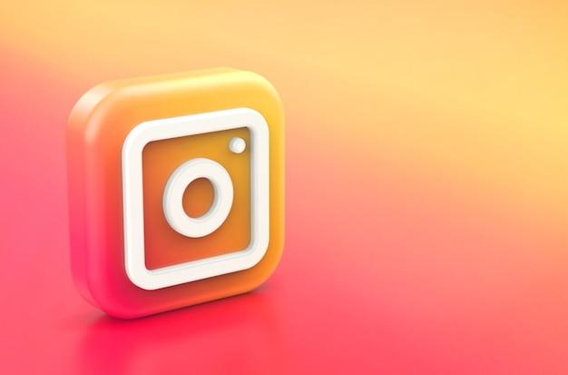3d-weergave van het instagram-logo Premium Foto