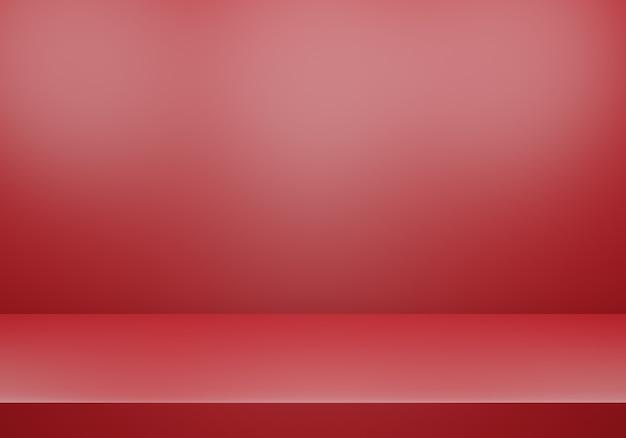 3d-weergave van lege rode abstracte minimale concept achtergrond Premium Foto