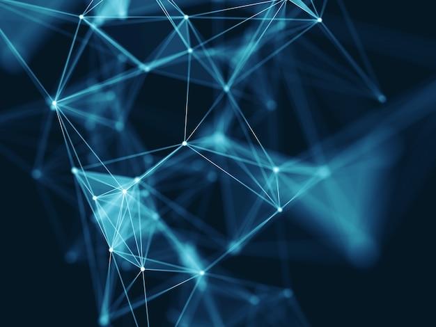 3d-wetenschap moderne netwerkcommunicatie achtergrond Gratis Foto