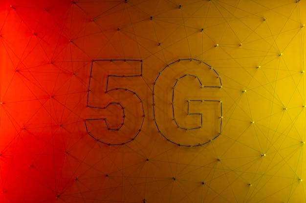 5g data technologie achtergrond Gratis Foto
