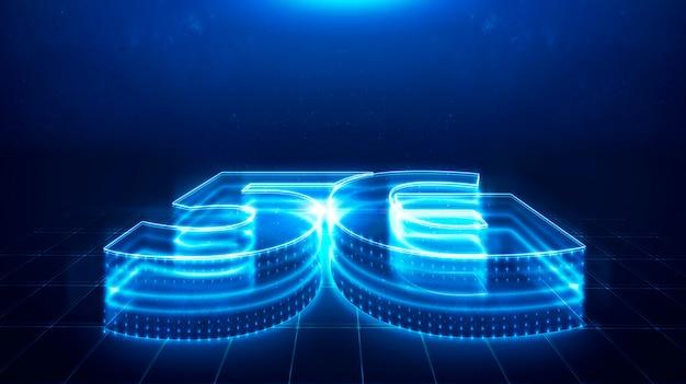 5g-technologie, snelheidstechnologie, communicatienetwerkconcept. Premium Foto