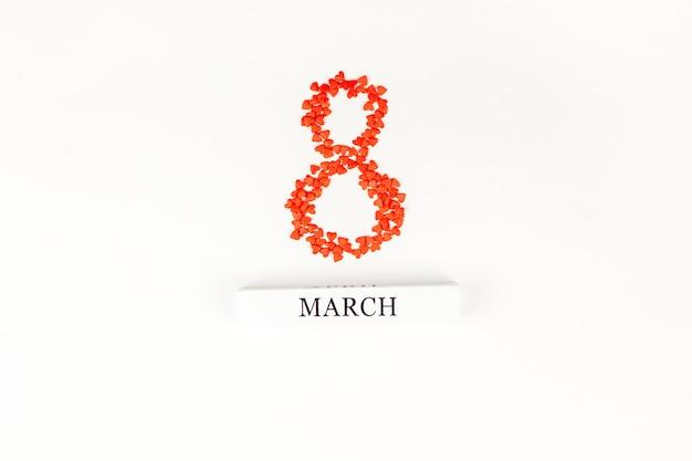 8 maart internationale vrouwendag-wenskaart Premium Foto