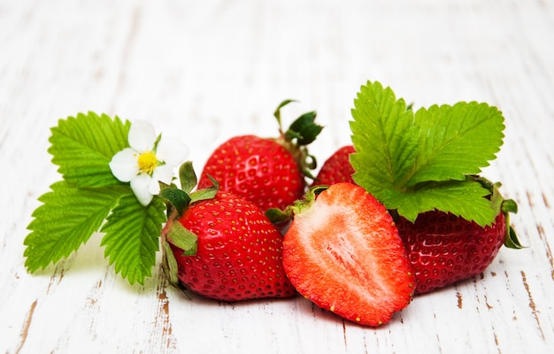 Aardbeien Premium Foto