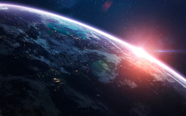 Aarde in de ruimte Premium Foto