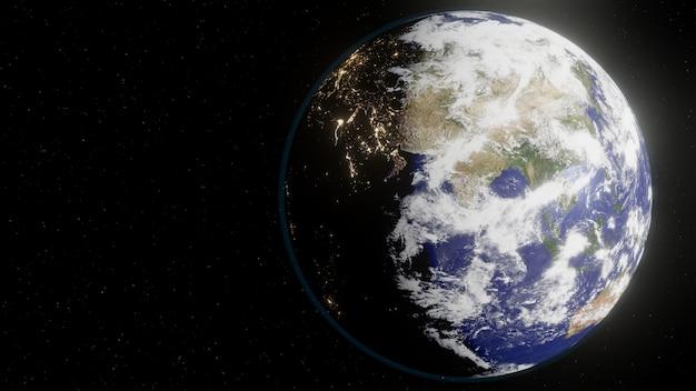 Aarde vanuit de ruimte Premium Foto