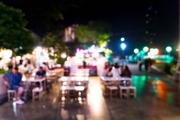 Abstract blauw en defocused voedselvrachtwagen voor achtergrond Premium Foto