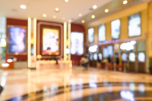 Abstract blur of movie theater complexe gang Premium Foto