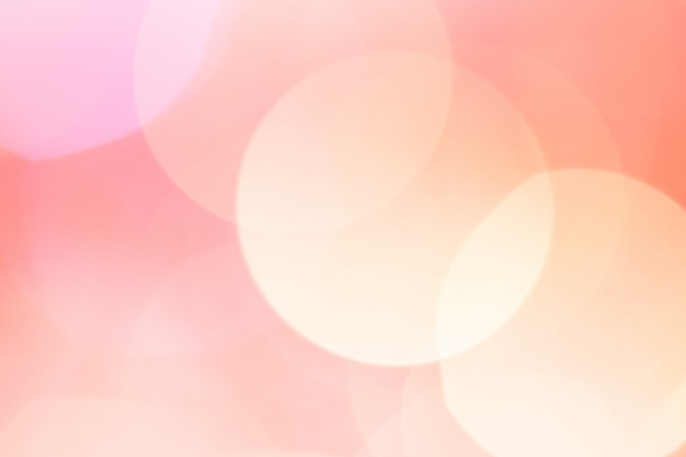 Abstract bokehlicht. perzik roze kleur. Premium Foto
