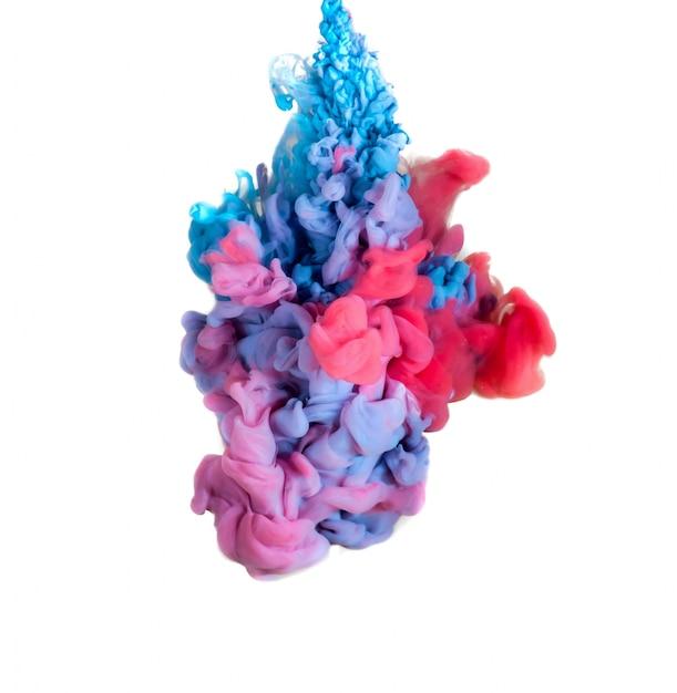 Abstract gevormd door kleuroplossing in water Gratis Foto