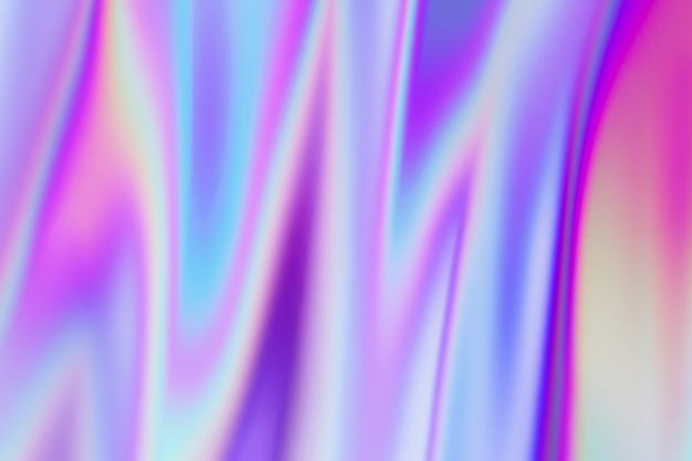 Abstract moving holographic colors gradient moving waves Premium Foto
