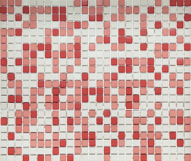Abstract mozaïek keramiek van rode en witte kleuren Premium Foto
