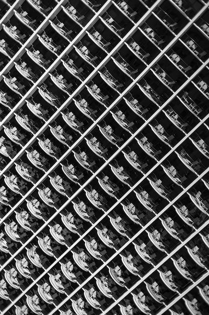 Abstract naadloos patroon van vensters Gratis Foto