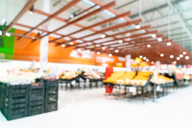 Abstract onduidelijk beeld in supermarkt Premium Foto