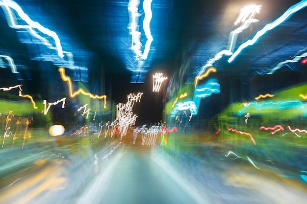 Abstract onscherp licht Premium Foto