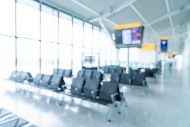 Abstract onscherpte en intreepupil luchthaven terminal interieur Premium Foto