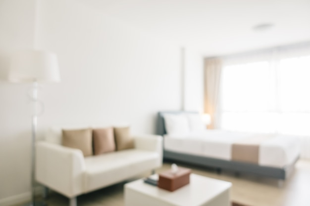 Abstract onscherpte en intreepupil slaapkamer interieur en decoratie Gratis Foto