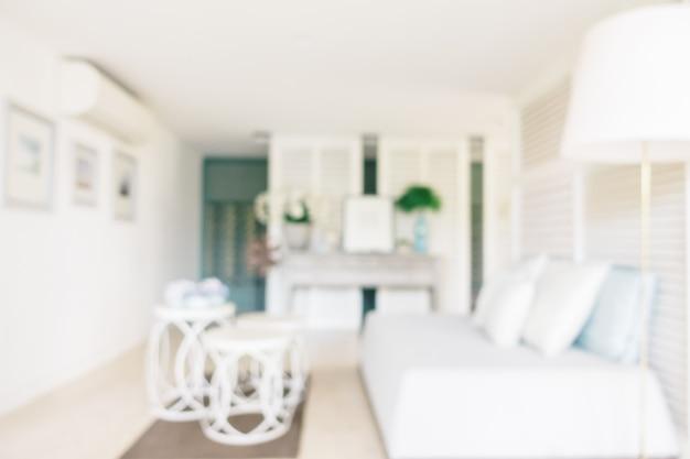 Abstract onscherpte en intreepupil woonkamer interieur Gratis Foto