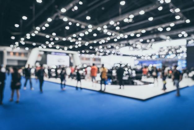 Abstract onscherpte en onscherpe auto en motor tentoonstelling show evenement Premium Foto