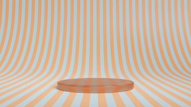 Abstract podium met strepen Premium Foto
