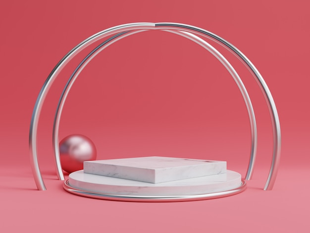 Abstract podium voor het plaatsen van producten en voor het plaatsen van prijzen Premium Foto