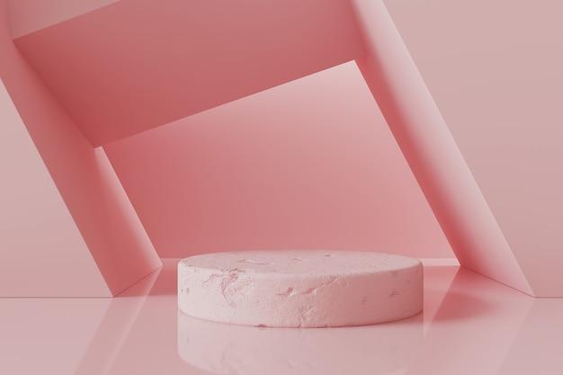 Abstract roze podium Premium Foto