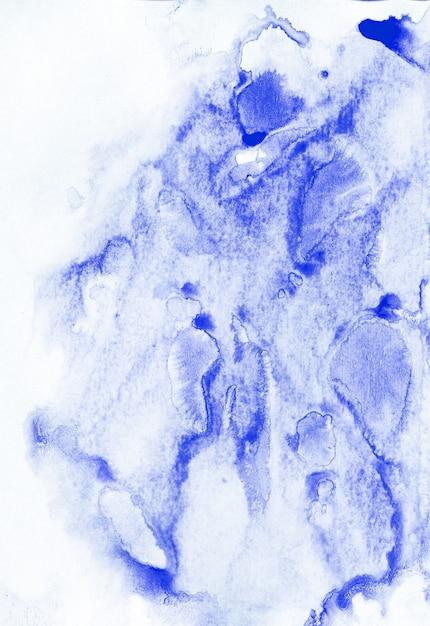 Abstract schilderij achtergrond. aquarel schilderij blauwe textuur. Premium Foto