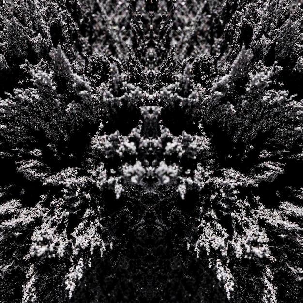 Abstract symmetrisch patroon van magnetische scheerpatroonachtergrond Gratis Foto